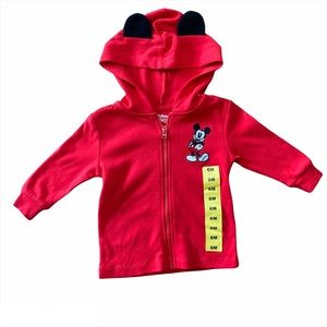 Disney Mickey Mouse Lightweight Red Hoodie